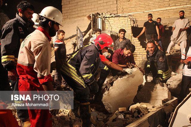 تخریب چهار منزل مسکونی براثر نشت گاز در حسن آباد سنندج