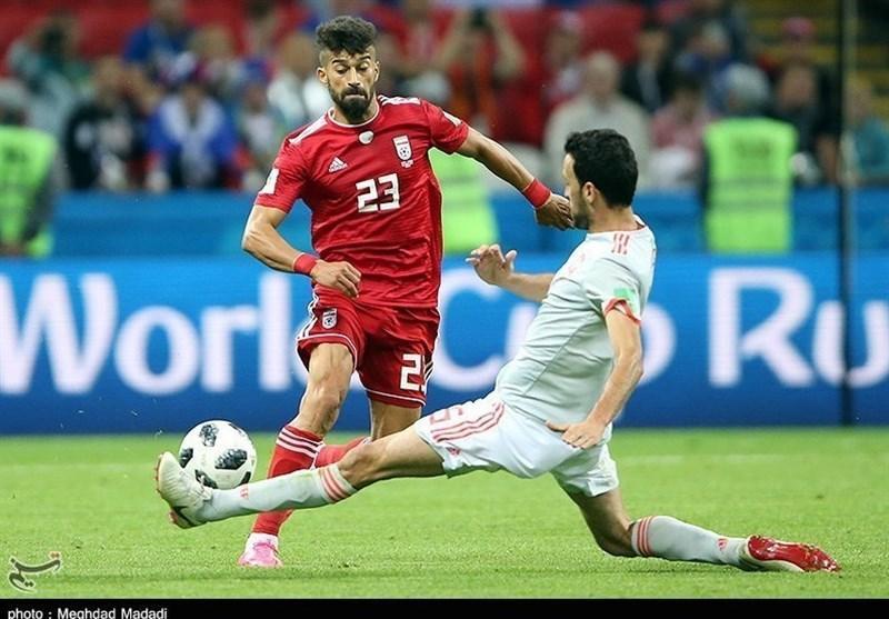 حضور رامین رضاییان در تمرین تیم ملی با وجود غیبت در لیست کی روش!