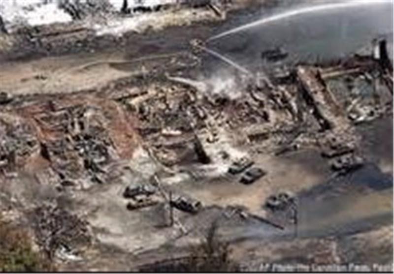 ماموران آتش نشانی کانادا مسئول انفجار قطار کبک