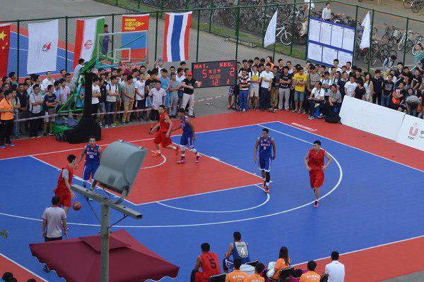 پیروزی تیم بسکتبال سه نفره ایران برابر اندونزی