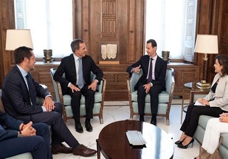 دیدار یک هیئت اروپایی با بشار اسد