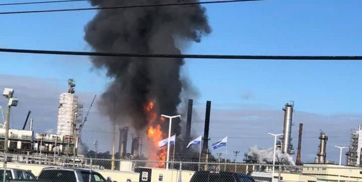 انفجار و آتش سوزی گسترده در پالایشگاه نفت در کانادا