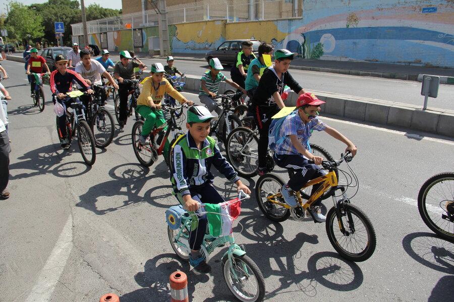 همایش بزرگ دوچرخه سواری در منطقه 11