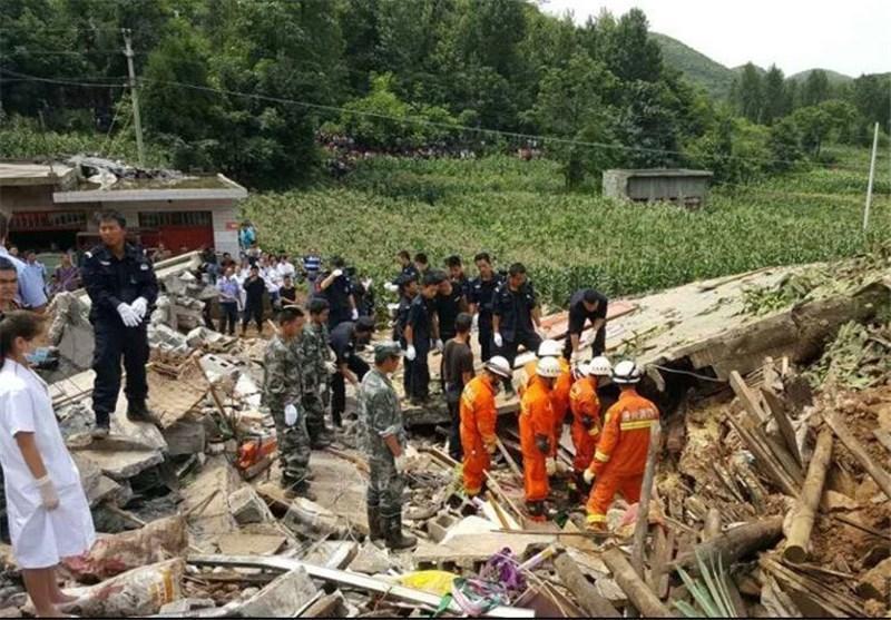 ادامه عملیات نجات در حادثه رانش زمین در چین ، تا به امروز 10 تن کشته شدند