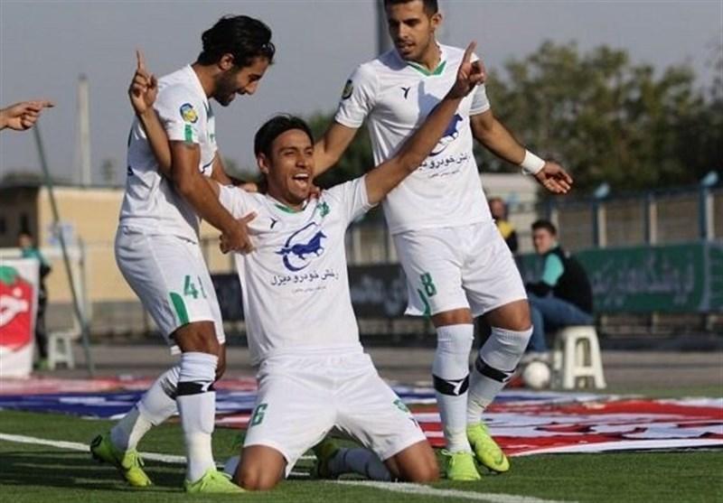 لیگ برتر فوتبال، فزونی دوگله شاهین مقابل ماشین سازی در نیمه نخست