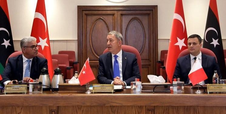 نشست وزیران دفاع ترکیه و قطر و وزیر کشور دولت وفاق ملی لیبی
