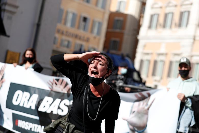کرونا در اروپا رکورد می زند؛ تظاهرات ضدقرنطینه افزایش می یابد (