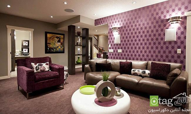 طراحی داخلی زیرزمین خانه با دکوراسیونی کامل و بسیار زیبا