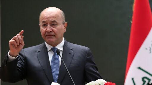 تاکید رئیس جمهور عراق بر همکاری بین المللی برای کاهش تنش های منطقه
