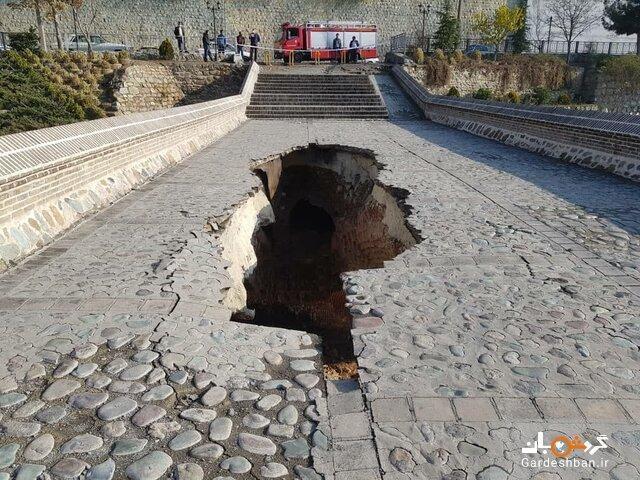 ریزش یک پل تاریخی در کرج، میزان خسارت هنوز تعیین نیست