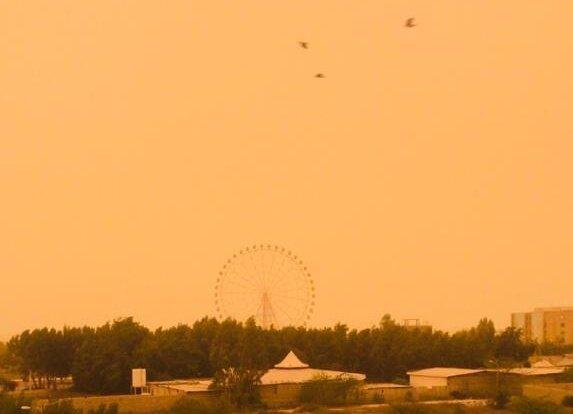 آلودگی هوا و گردوخاک غلیظ در بوشهر