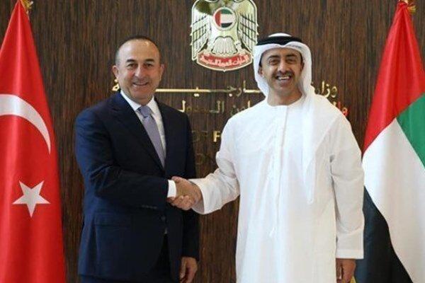 وزرای خارجه ترکیه و امارات تلفنی تبادل نظر کردند