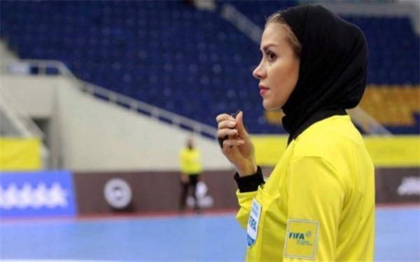 دختر ایرانی داور اولین روز از جام جهانی فوتسال شد